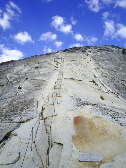 Stairs to the Summit of Half Dome