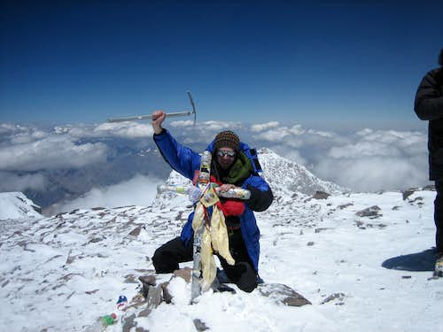 Aconcagua summit shot