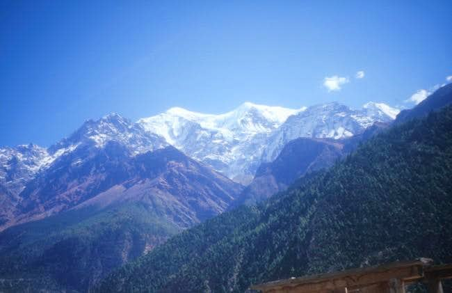 Dhaulagiri seen from the...
