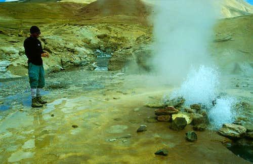 Hot springs and Geysirs