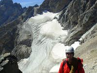 Middle Teton Glacier On Descent