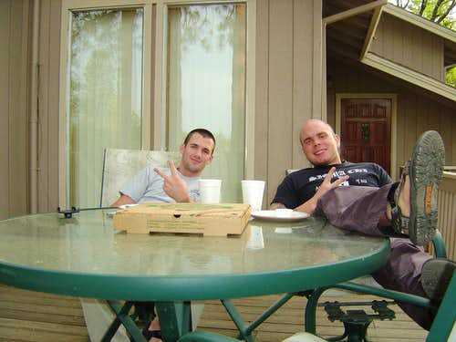 Pizza and Booze at the Cabin