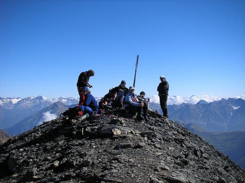 Summit of Piz Quattervals 3165m