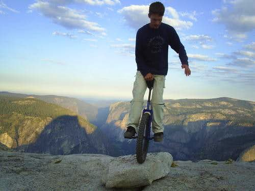 Unicycle on Half-Dome