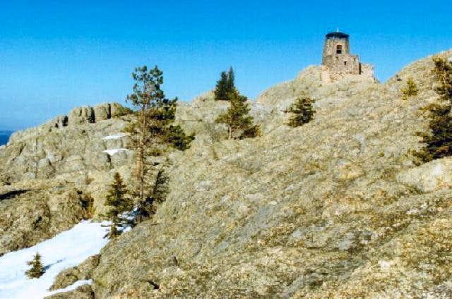 Harney Peak summit area from...