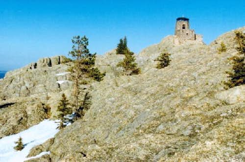 Harney Peak summit area from...