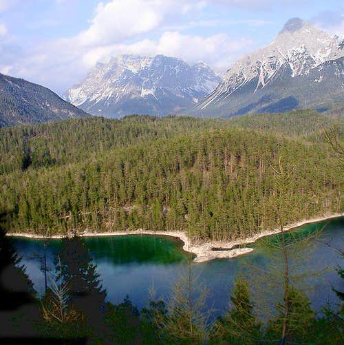 Zugspitze and Blindsee seen...
