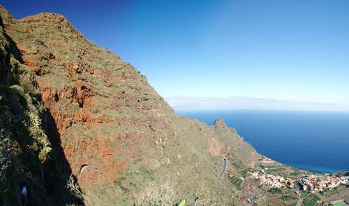 The Red Wall of Agulo