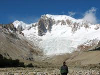 Me with Cerro San Lorenzo in the background (This was taken near the refugio on the way out)