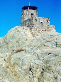 Harney Peak lookout from the...