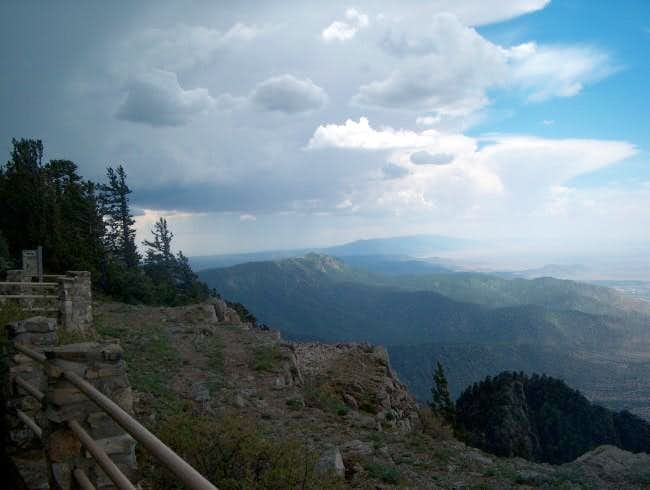Looking south atop Sandia...