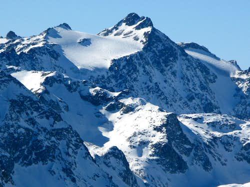 Piz d'Err 3378m with glacier