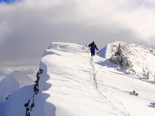 Ascending North Ridge of North Long (11,380)