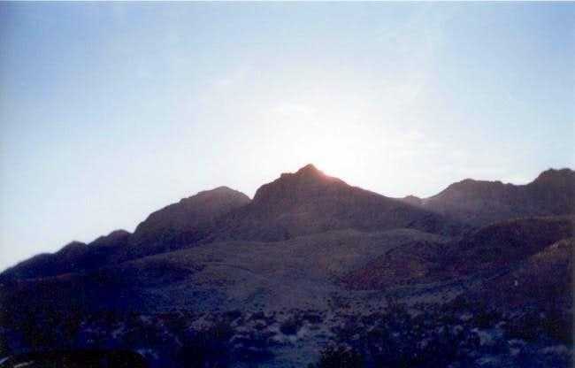 Ubehebe Peak in front of a...