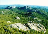 View south from Harney Peak....
