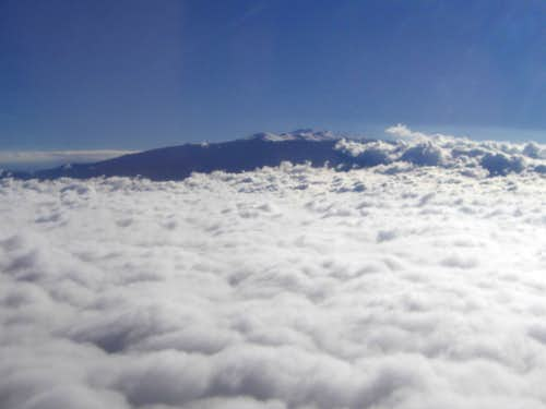 Mauna Kea from plane