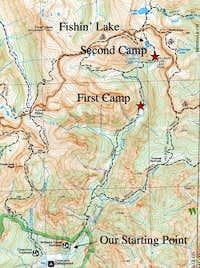 Williams Creek Trail Map