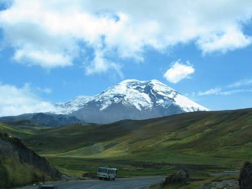 Chimborazo seen from the road...