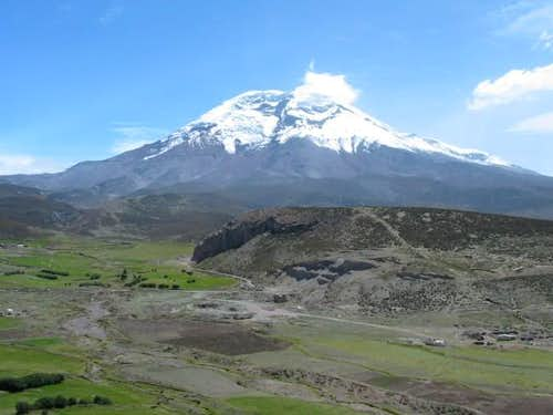 Getting close to Chimborazo,...