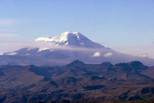 Chimborazo as seen from Illiniza Sur.