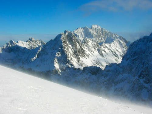 View of Gerlach (2655m),the highest summit in Tatra