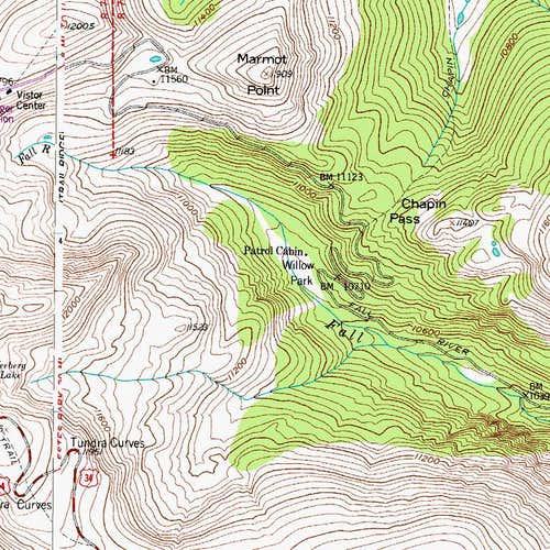 Topo Map of Marmot Point
