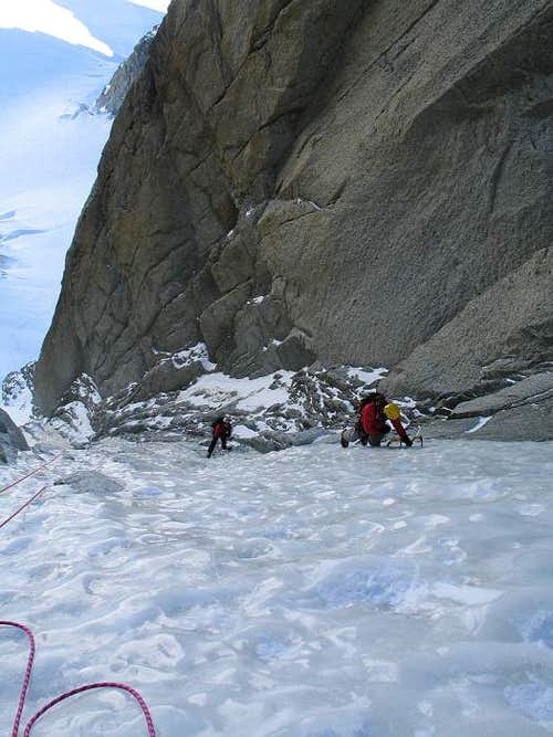 Supercouloir at Tacul