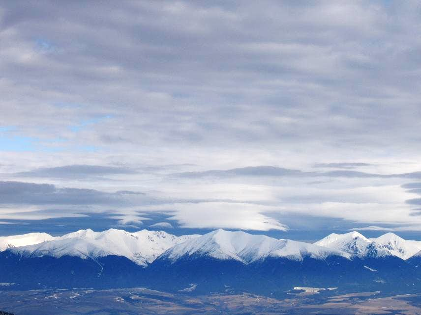 Early morning view of the Western Tatras from the South