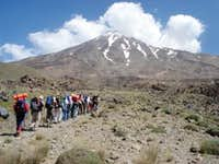 To west face of Damavand