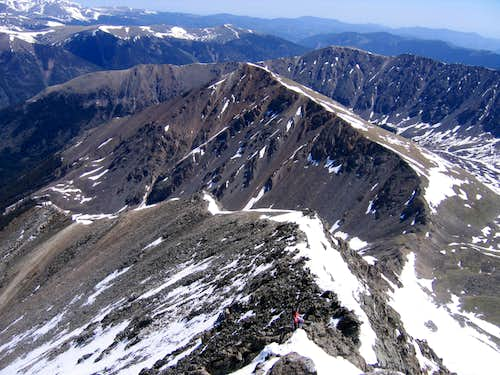 North Ridge and Kelso Ridge of Torreys