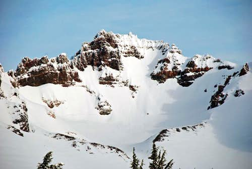 Headwall and summit above Glacier on Broken Top