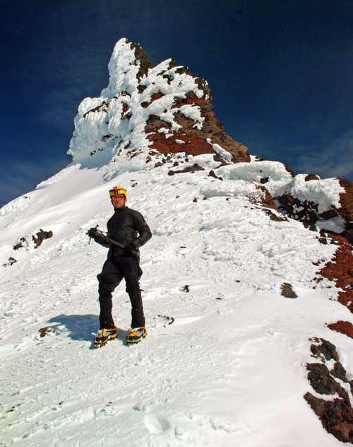 Standing on the summit ridge of Broken Top