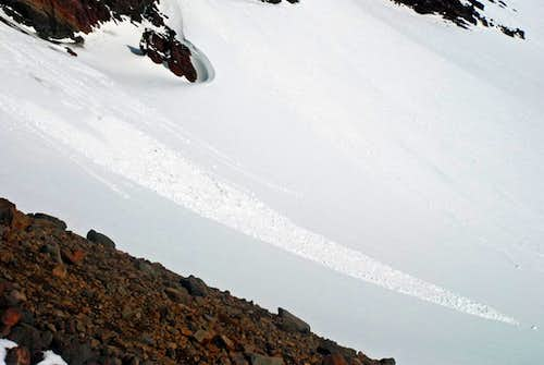 Avalanche on Broken Top