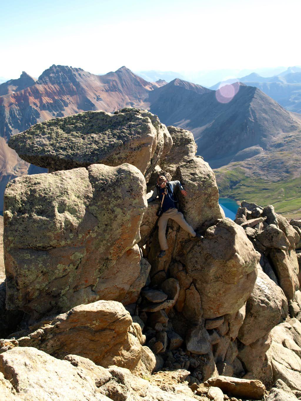 Boulders on NE Ridge of San Miguel Peak