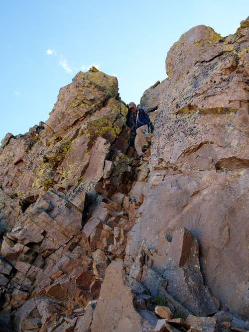 Notch on San Miguel Peak