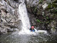 Caluis in Middle Falls pool
