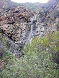 Side canyon falls in the lower canyon