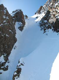 Climbers in Snake Couloir