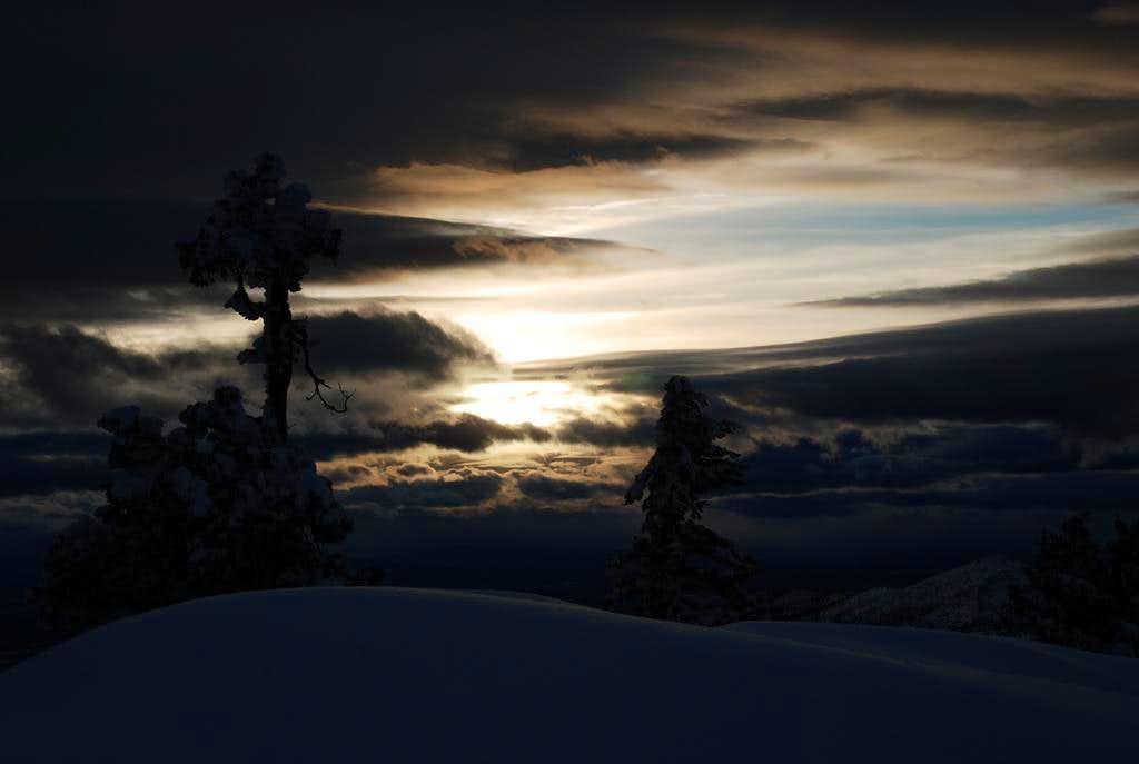Sunset Behind Snowdrifts