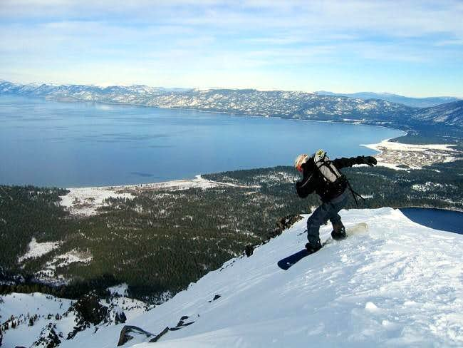 Snowboarding the north face...