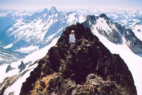 On the summit ridge