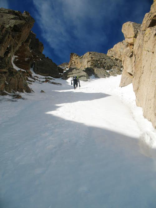 Couloir on Little Pawnee's North Face