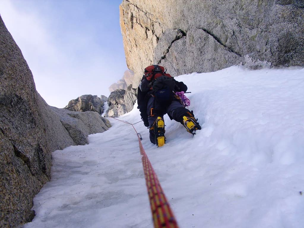 Climbing on the Migot Spur