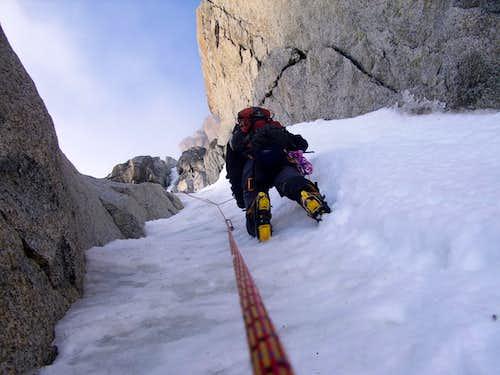 Climbing on the Migot Spur
