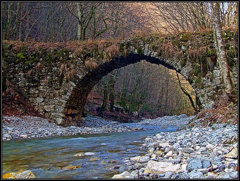 Old bridge in Kneza valley