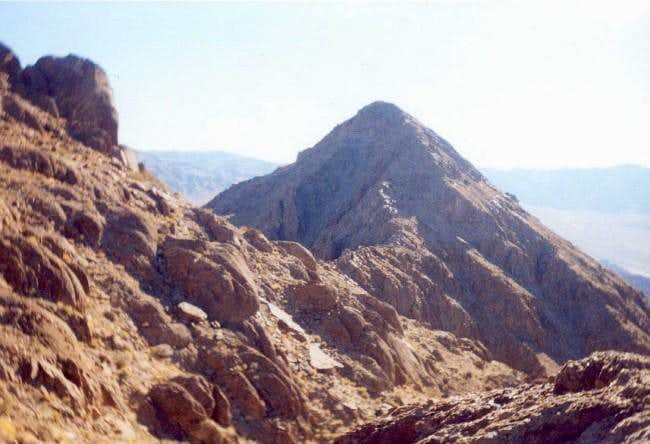 Traverse from Little Ubehebe Peak