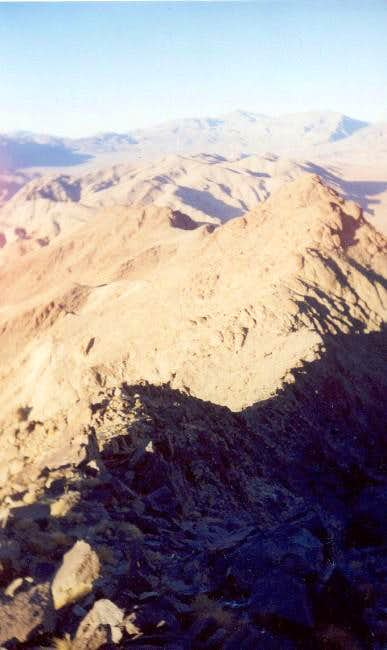 The ridge, as seen while...