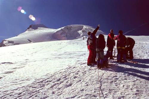 The upper Ortler glacier is...