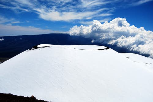 Snow Covered Cinder Cone...