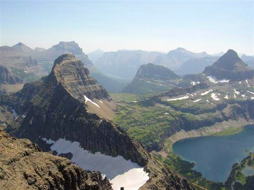 View from Mount Cannon to Logan Pass